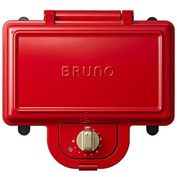 イデアインターナショナル ブルーノ ホットサンドメーカー ダブル レッド BOE044-RD