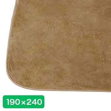 アイリス マイクロムートンラグカーペット【190×240cm】 クッキー OPM-1924-CO