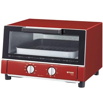 タイガー魔法瓶 オーブントースター やきたて(1300W) レッド KAM-G130-R