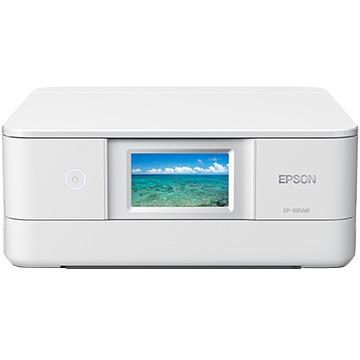 EPSON A4インクジェット複合機 Colorio ホワイト EP-881AW