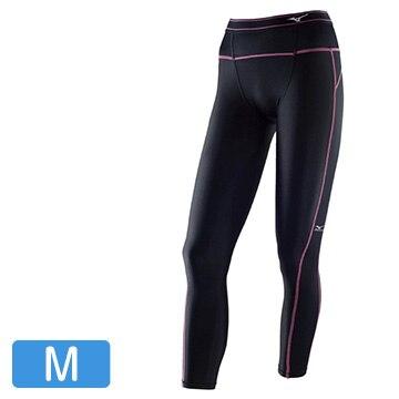 ミズノ バイオギアタイツ ロング レディース ブラック×ピンク Mサイズ A76BP37094_M