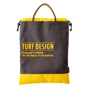 TURF DESIGN ■TURF DESIGN シューズバッグ TDSB-1870 BK/YE