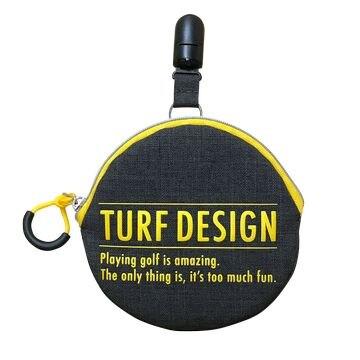 TURF DESIGN ■Ball Cleaner & Putter Catcher TDBP-1870 BK/YE