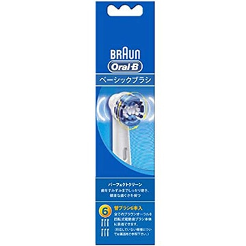 ブラウン オーラルB 電動歯ブラシ 替ブラシ パーフェクトクリーン 6本入 EB20-6-ELN