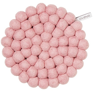 aveva(アベバ) 【aveva】【スウェーデン】ウール100%鍋敷き:TRIVET(ROUND)(pink) AVV060029