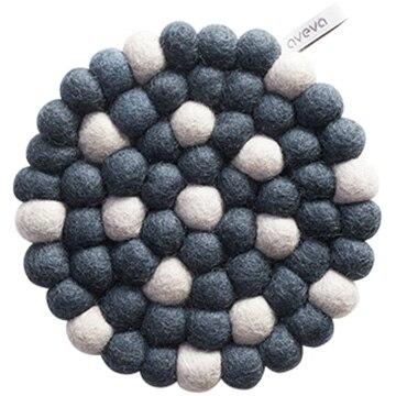 aveva(アベバ) 【aveva】【スウェーデン】ウール100%鍋敷き:TRIVET(ROUND)(grey-dots) AVV040157