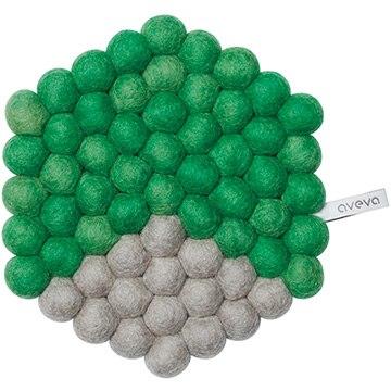 aveva(アベバ) 【aveva】【スウェーデン】ウール100%鍋敷き:HEXAGON(green) AVV060034