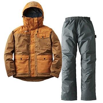ロゴス ■汚れに強い防水防寒スーツ カーター ブラウン L 30340672