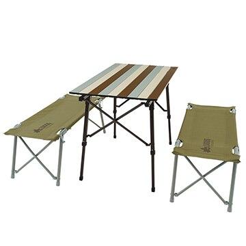 ロゴスコーポーレーション ■LOGOS Life オートレッグベンチテーブルセット4(ヴィンテージ) 73188002