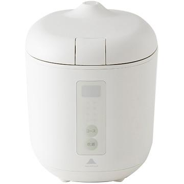神明きっちん ソフトスチーム米専用小型炊飯器 poddi(ポッディー) 1.5合炊き ホワイト AK-PD01-W