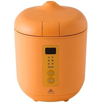 神明きっちん ソフトスチーム米専用小型炊飯器 poddi(ポッディー) 1.5合炊き オレンジ AK-PD01-OR