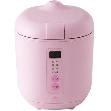 神明きっちん ソフトスチーム米専用小型炊飯器 poddi(ポッディー) 1.5合炊き ピンク AK-PD01-P