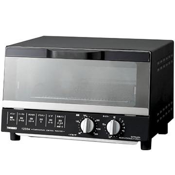ツインバード オーブントースター 食パン4枚対応 ブラック TS-4185B