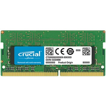 8GB DDR4 2400 MT/s (PC4-19200) CL17 SR x8 Unbuffered SODIMM 260pin Single Ranked