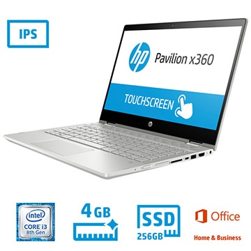 HP Pavilion x360 14-cd (14.0型/i3-8130U/メモリ 4GB/SSD 256GB/Office有/なんでも相談デラックス) 5EA32PA-AAAG