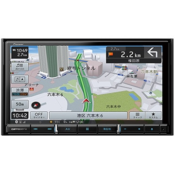パイオニア 楽ナビ 7V型HD液晶 メモリーナビ/地上デジ/DVD/Bluetooth AVIC-RZ910