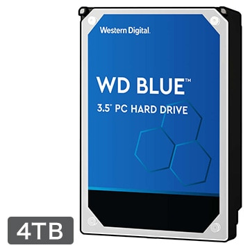 WesternDigital 内蔵ハードディスク PC用途向け 4TB 3.5インチ Blue 2年保証 WD40EZRZ-RT2