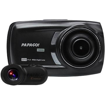 PAPAGO フルHD高画質オールインワン 2カメラドライブレコーダー GSS70GS1-32G