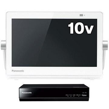 パナソニック プライベート・ビエラ 10V型防水ポータブル液晶TV ホワイト UN-10T8-W