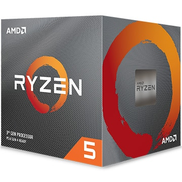 AMD CPU Ryzen 5 3600X クーラー付 (6C12T3.8GHz95W) 100-100000022BOX