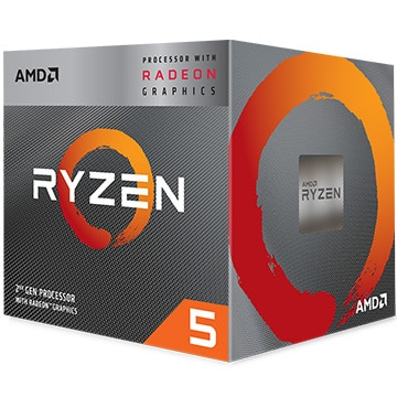 AMD CPU Ryzen 5 3400G クーラー付 (4C8T3.7Hz65W) YD3400C5FHBOX