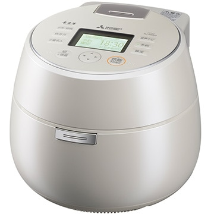 三菱電機 IH炊飯器 本炭釜 5.5合炊き KAMADO 羽釜タイプ 白真珠 NJ-AWA10-W