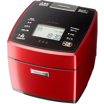 三菱 IH炊飯器 本炭釜 5.5合炊き 赤紅玉 熱密封かまど構造 NJ-VWA10-R