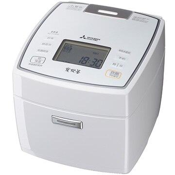 三菱電機 IH炊飯器 備長炭 炭炊釜 5.5合炊き ピュアホワイト NJ-VVA10-W