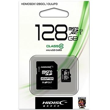 HIDISC microSDXCカード 128GB Class10 UHS-1 HDMCSDX128GCL10UIJP3