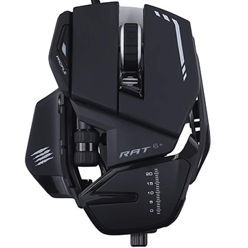 Mad Catz R.A.T.6+ Optical Gaming Mouse MR04DCINBL000-0J