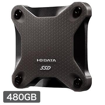 I-ODATA USB 3.1 Gen 1対応ポータブルSSD 480GB 黒 SSPH-UT480K