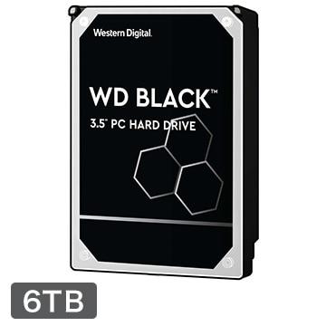 WesternDigital ■WD Black シリーズ 3.5インチ 内蔵HDD 6TB 7200rpm WD6003FZBX-R