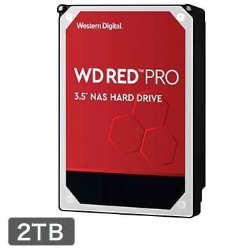 WesternDigital ■WD Red Pro シリーズ NAS向けHDD 3.5インチ 2TB WD2002FFSX-R