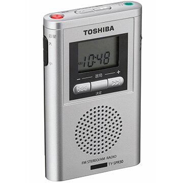 東芝 高感度ポケットサイズラジオ TY-SPR30(S)