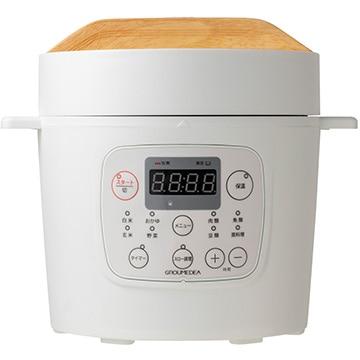 共栄物産 マイコン式2.0リットル電気圧力鍋 ホワイト YBW20-70(W)