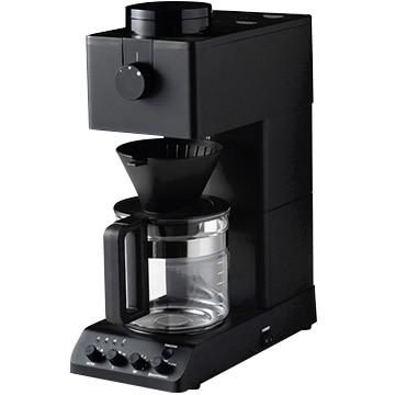 ツインバード 全自動コーヒーメーカー 6杯分 ブラック CM-D465B