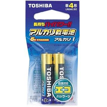 TOSHIBA アルカリ乾電池 単4 2本 エコパッケージ LR03AG2EC