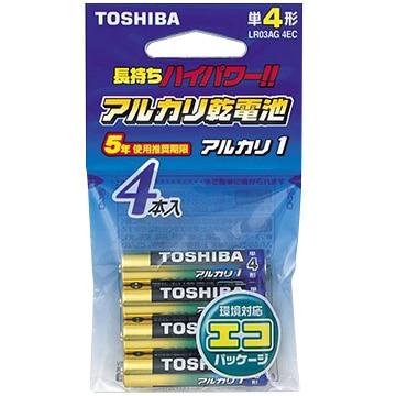 TOSHIBA アルカリ乾電池 単4 4本 LR03AG4EC