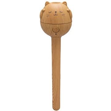スリーアップ うるおいにゃんこ パーソナル加湿器 木目調 ナチュラルウッド HFT-1627NW