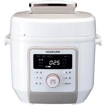 小泉成器 マイコン電気圧力鍋 3L ホワイト KSC-4501/W