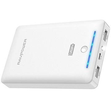 RAVPower 16750mAh モバイルバッテリー PSE認証 ホワイト RP-PB19WH