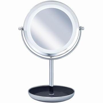 コイズミ 拡大鏡 5倍 丸型 LED 両面卓上 13.1cm シルバー KBE-3120/S