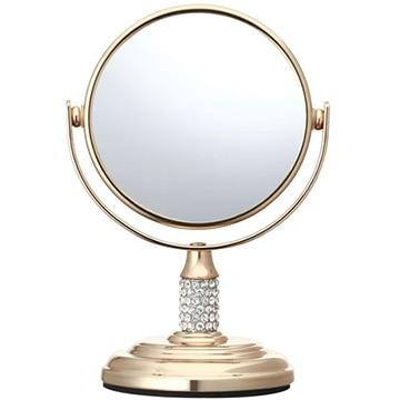 コイズミ 拡大鏡 5倍 丸型 両面卓上 7.5cm ゴールド KBE-3052/N