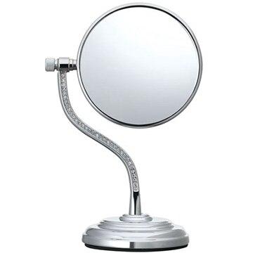 コイズミ 拡大鏡 5倍 丸型 両面卓上 7.5cm ロングアームタイプ シルバー KBE-3060/S