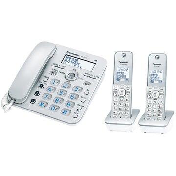 パナソニック コードレス電話機(子機2台)(シルバー) VE-GD36DW-S