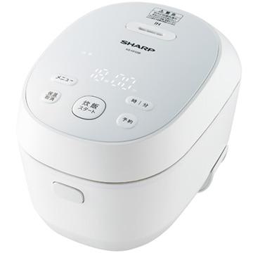 SHARP IHジャー炊飯器 3合炊き PLAINLY ホワイト系 KS-HF05B-W
