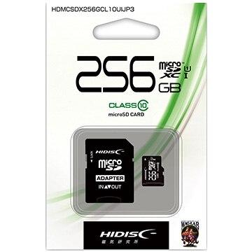 HIDISC microSDXCカード256GB Class10 UHS-1 HDMCSDX256GCL10UIJP3