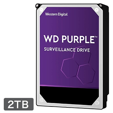 WesternDigital WD Purple シリーズ 3.5インチ 内蔵 HDD 2TB IntellIpower WD20PURZ-R