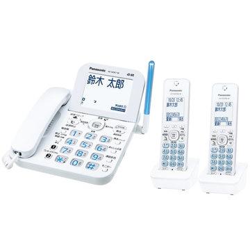 パナソニック コードレス電話機(子機2台)(ホワイト) VE-GD67DW-W