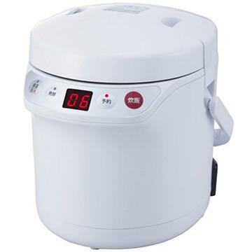 アルコレ ミニライスクッカー 炊飯器 1.5合炊き 発酵モード付き ホワイト ARC-T105/W